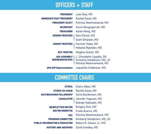 Officers Staff Committee Chairs